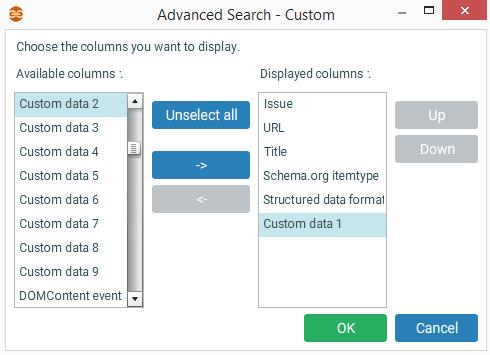 Ajout de données custom dans une recherche avancée