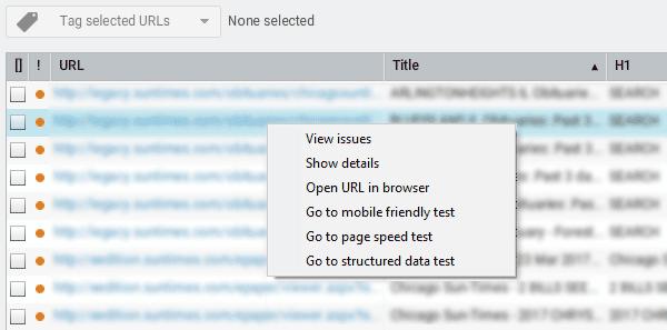 URL information